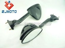 MOTORCYCLE Left & Right Side Mirrors For KAWASAKI ZZR1400 ZZR 1400 ZZR-1400 ZX14R 2006-2011 Jet Black Racing Mirrors
