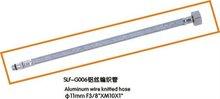 Aluminum weaved hose for faucet (F3/8''xM10x1'')