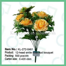 artificial smile rose bush in fashion and lifelike appearence
