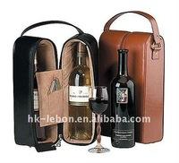 Practical Fashion Double Wine Presentation Case cooler bag lunch bag
