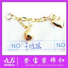 Gold Shoe accessories chain in Wenzhou China