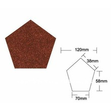 Colored corrugated pentagon-type seal metal roof tile