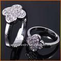 Flor de prata anéis - jr6811