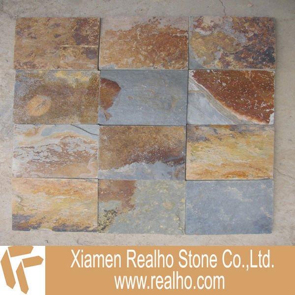 Natural de pizarra r stica revestimiento de la pared de piedra - Revestimiento de piedra natural precios ...