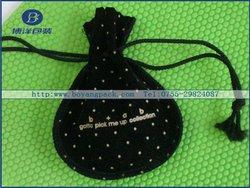 black velvet jewelry pouch for iPad