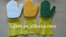 washing kitchen latex sponge glove