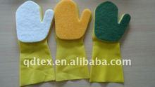 washing kitchen latex sponge glove