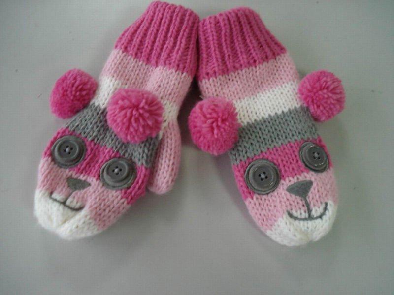 guantes animales hechos punto
