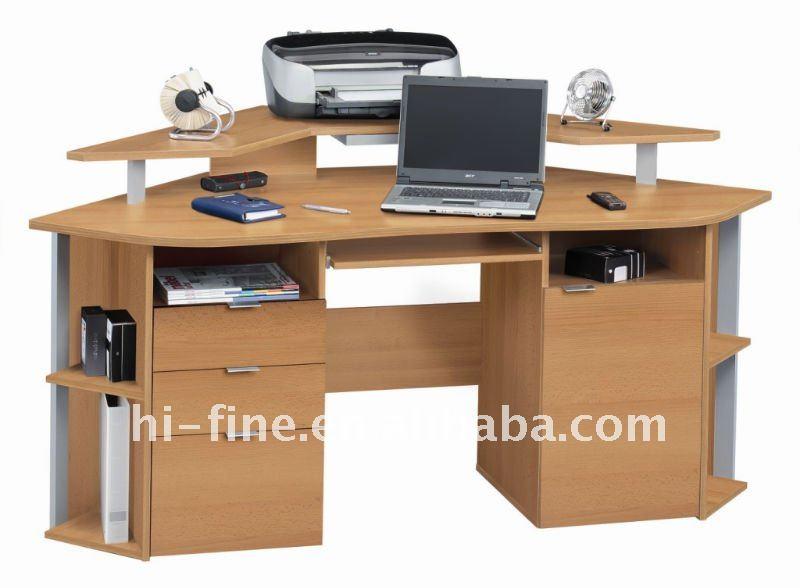 Madeira de canto do computador de mesa mesa de madeira id - Escritorios en esquina ...