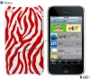 Zebra Color Printing Case for iPhone 3Gs. Back Cover for iPhone 3Gs.