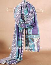 100% wool scarf , woven's scarf , fashion scarf