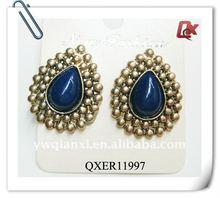 Fashion alloy tear antique earrings (QXER11997)
