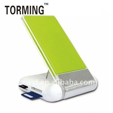 Folding mobile phone holder with 2 ports USB HUB version2.0