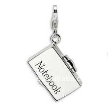 alloy silver plated notebook laptop jewelry pendant