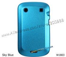 Aluminum+Silicone Metallic Back Cover Case for Blackberry Bold 9900 9930