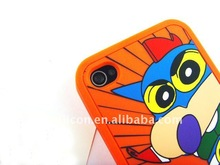 Crazy for sale,environmental silicon soft case with colorful transfer techniques,for iphone