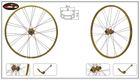 golden anodized alloy wheel rim 26inch bike sport wheel MTB