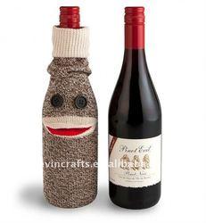 sock monkey beer bottle cover