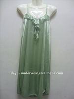1.4USD Sexy Cheappest Stock Silk Flexible Sexy Transparent Dress Sleepwear Dress(kcsy005-23)