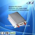 Fotocamera gps per auto tracker con led/lcd display advertising carta del rfid