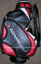Black pu leather golf cart bag