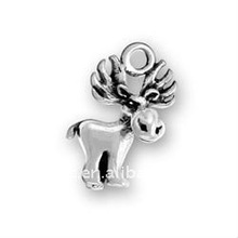 alloy plating antique silver small moose DIY jewelry accessories lead free,nickel free