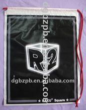 2012 black cotton drawstring bags