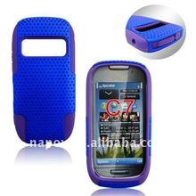 Napov 2 in 1 combo mobile phone skin cover case for nokia c7
