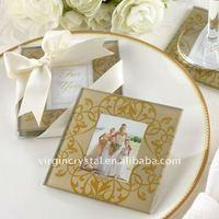 Glass Wedding Photo Frame Coaster/Door Gifts
