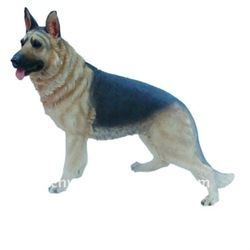 Dog polyresin big size dog German shepherd