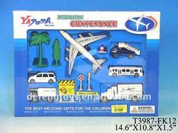 Airport set passenger plane model