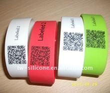 2012 fashion Qr barcode rubber band