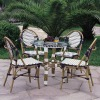 Bamboo Finish Rattan Cafe Furniture Set
