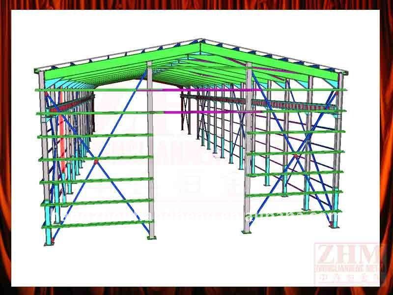 Pre - engenharia 3d galpão de desenho