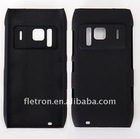Black Hard Rubberized Back CaseFor Nokia N8