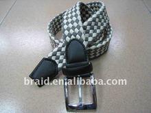 woven fabric fashion man waistbelt seatbelt extender