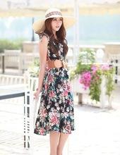 fashion flowery women dress clothes 2012