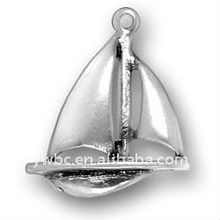 antique silver fashion sailboat with keel jewelry pendants