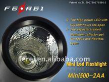 1 watt CREE Q3 MINI LED flashlight mini500-2AA