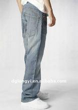 wholesale man's fashion denim jeans pants fabric 2012