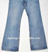 wholesale woman's fashion cotton denim jeans pants fabric 2012