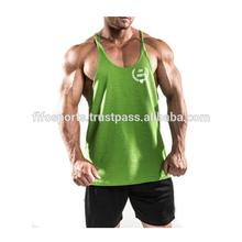 Plain Bodybuilding Muscle Stringer Vest Racerback Fitness Gym Tank Top