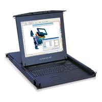 "KwikDraw-A 171 : UK (PS/2) 17"" TFT LCD Monitor, Keyboard & Touchpad, 1U rackmount sliding (AC)"