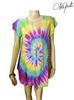 Wholesale fashion Tie dye Colorful Shirt,handmade tie dye