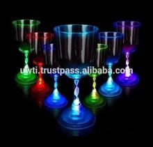 Flashing LED Wine Glass - Light Up Barware - Novelty Drinking Cup,UW-LFG038