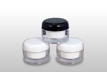 50ml blue transparent cubic acrylic cosmetic jar