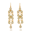925 Sterling Silver Chalcedony Gemstone Earring, Fashion Dangler Earring With Gold Plated