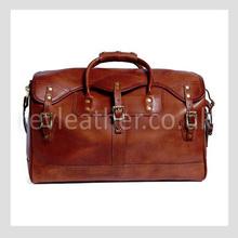 Cross grain genuine leather hand bag for men business handbag
