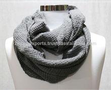 winter loop shawls infinity acrylic scarves