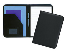ADACF - 0123 black leather conference folder / business leather meeting folder / best gift leather file and folders